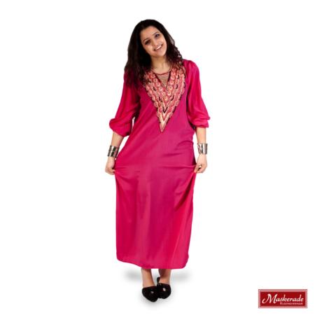 Arabisch kostuum roze jurk