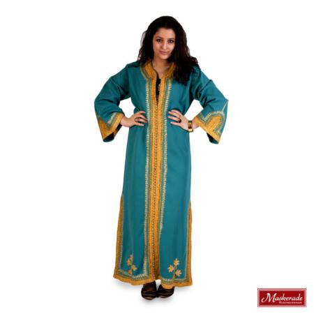 Arabisch kostuum turqoise jurk
