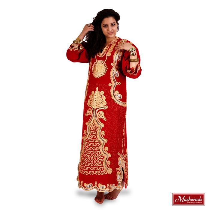 Rode Jurk Korte Mouw.Arabisch Kostuum Rode Jurk Huren Bij Maskerade Kledingverhuur