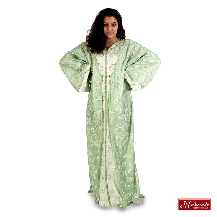 Arabisch kostuum mintgroene jurk