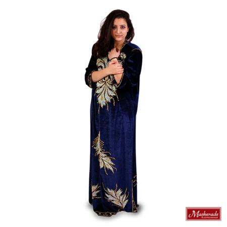Arabisch kostuum blauwe jurk