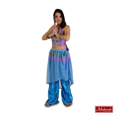 Arabisch kostuum blauwpaars