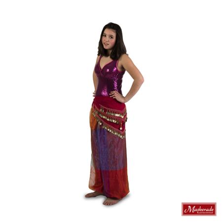 Arabisch kostuum van voille ruitprint