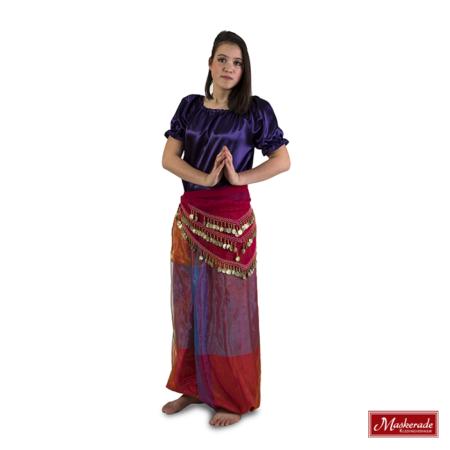 Arabisch kostuum van broek met voille ruitprint