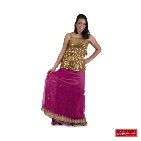 Arabisch kostuum van roze rok