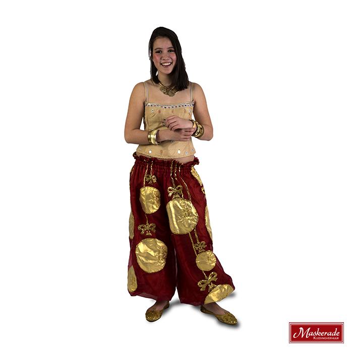Arabisch kostuum van oranje broek