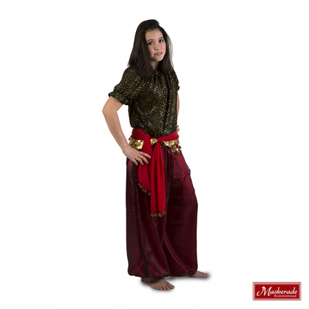 Arabisch kostuum van rode broek