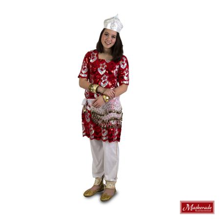 Arabisch kostuum rode glittertuniek