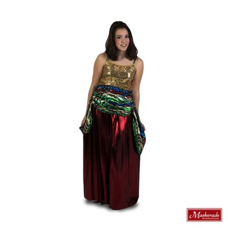 Arabisch kostuum van rode rok
