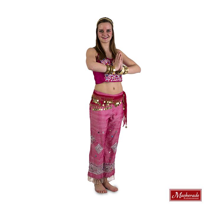 Buikdanseres kostuum in roze