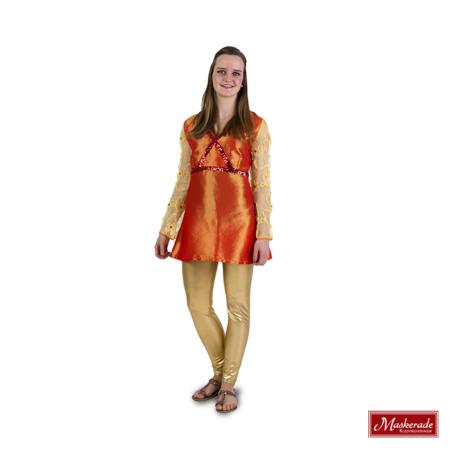 Arabisch kostuum oranje tuniek
