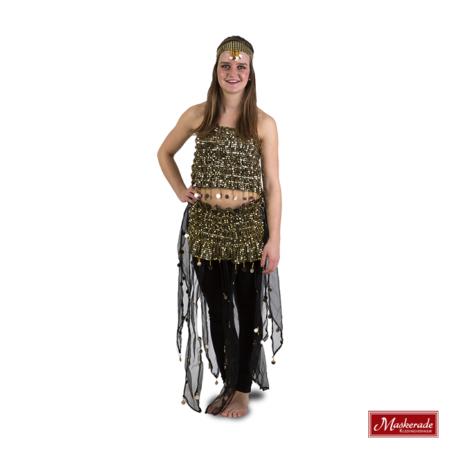 Arabisch kostuum sexy gouden rekstof