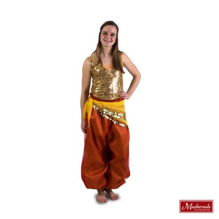 Arabisch kostuum oranje goud