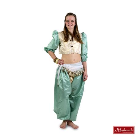 Arabisch kostuum mintkleurig