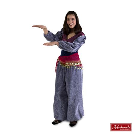 Arabisch kostuum van lila glitter