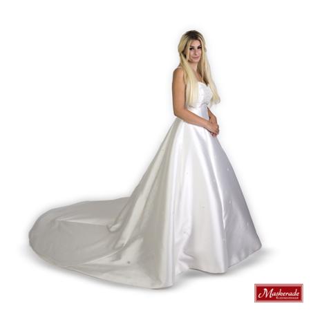 Elegante witte bruidsjurk van satijn
