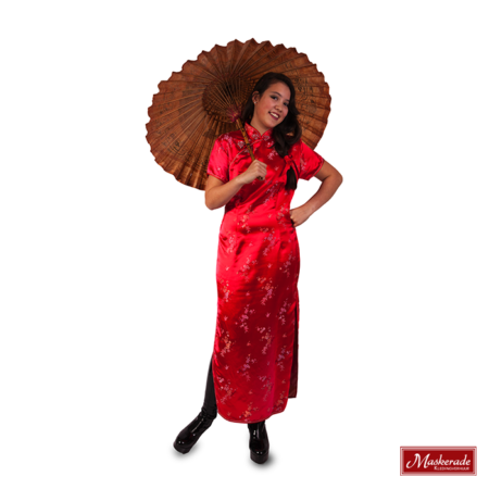 Chinese lange rode jurk