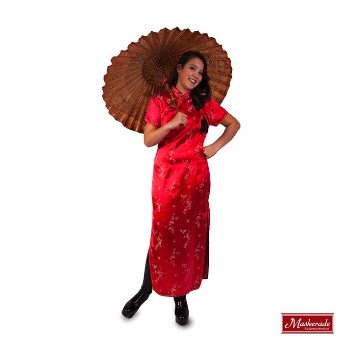 nu kopen New York snelle levering Chinese lange rode jurk