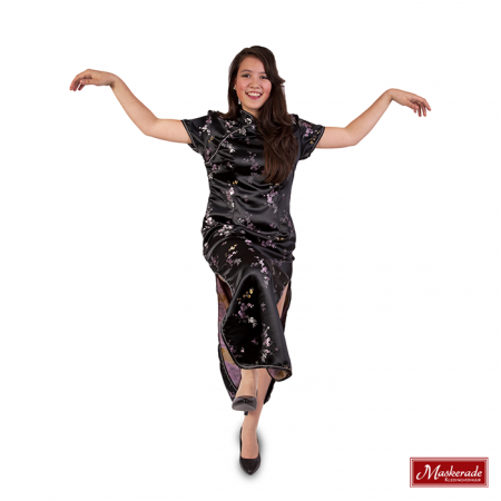 Chinese zwarte jurk
