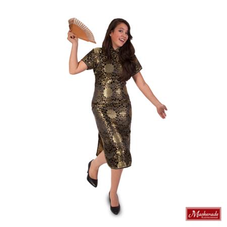 Chinese korte gouden jurk