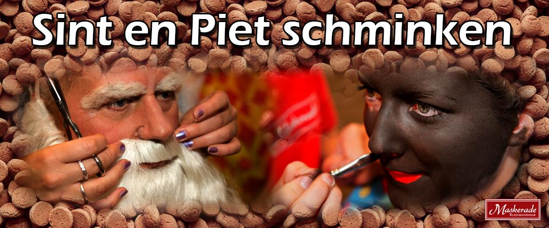 Sin en Piet schminken bij Maskerade Kledingverhuur