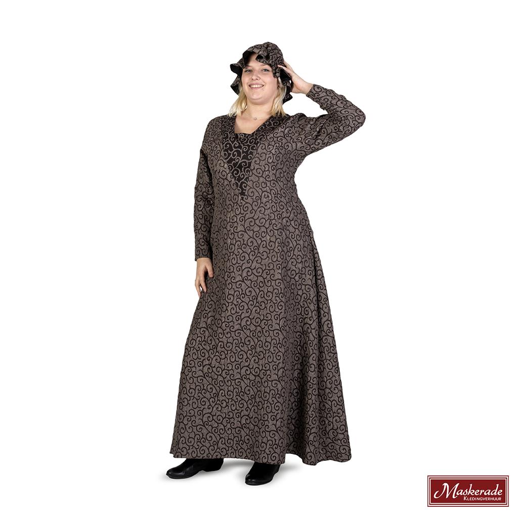 Beroemd Charles Dickens: Olijfgroene jurk met patroon en mutsje huren bij @PX48