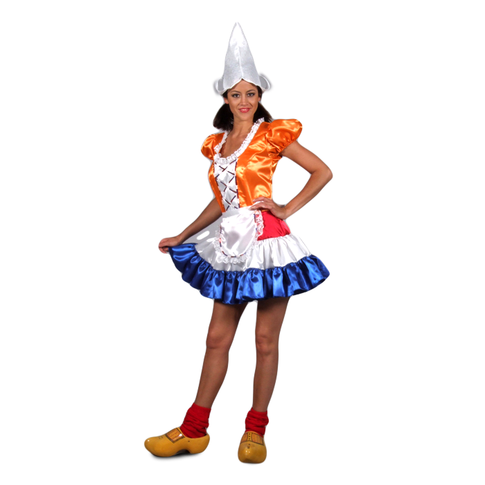 3078d43ede82e9 Hollands jurkje oranje en rood wit blauw huren bij Maskerade ...