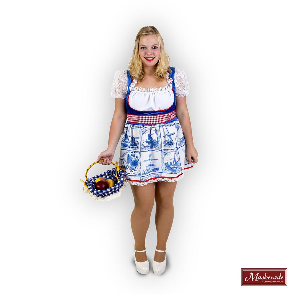 8fff42e2449fe8 Oktoberfest Verhuur  Hollands kort jurkje Delfts blauw huren bij ...