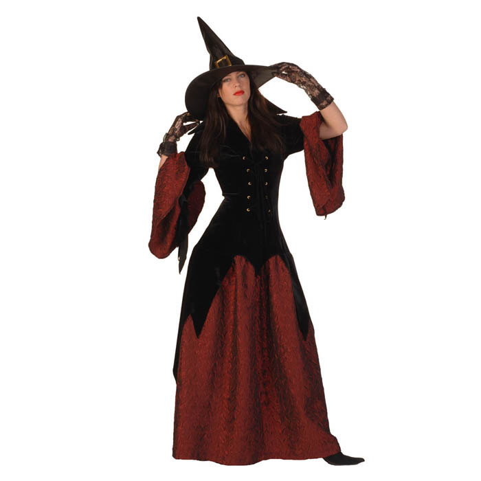 Fluwelen heksenjurk