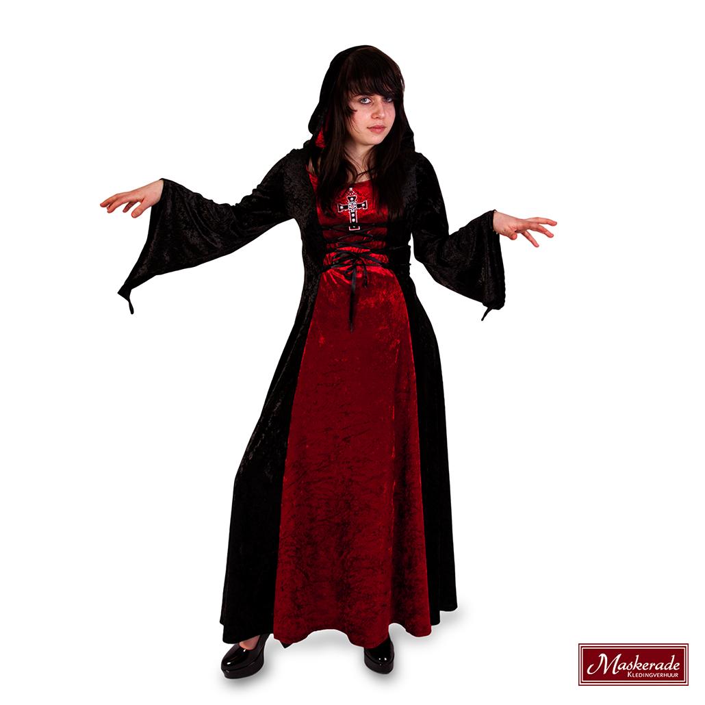 Halloween Kruis.Heksenjurk Met Kruis En Capuchon