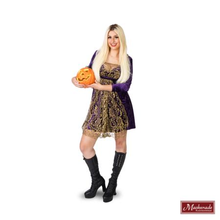Sexy paarse heksenjurk