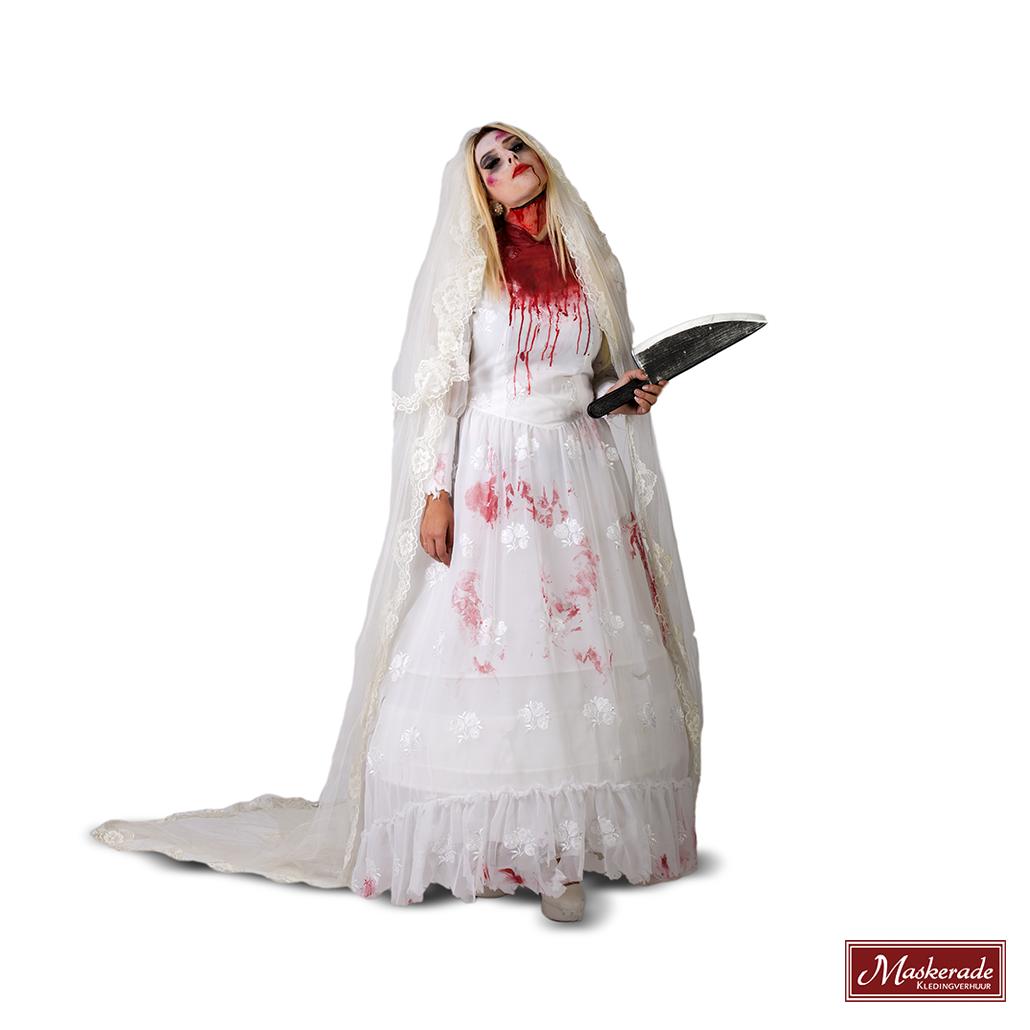 Zombie Bruidsjurk Met Kant En Sleep