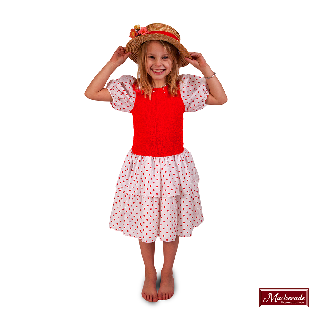 b916eaa3af142f KInderkleding rode Spaanse jurk huren bij Maskerade Kledingverhuur
