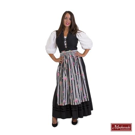 Tiroler Zwarte jurk