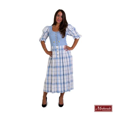 Lichtblauwe jurk met ruit