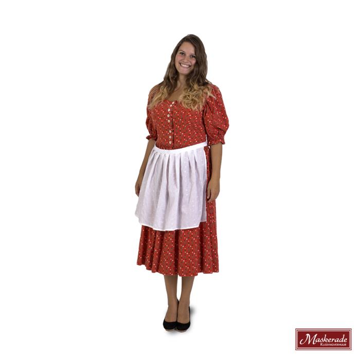 Oranje Tiroler jurk