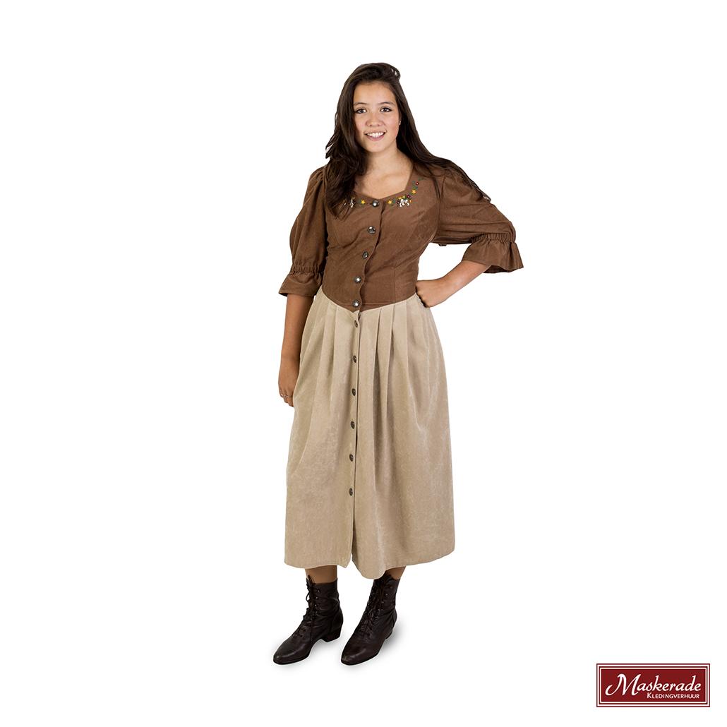 Lichtbruine Tiroler jurk