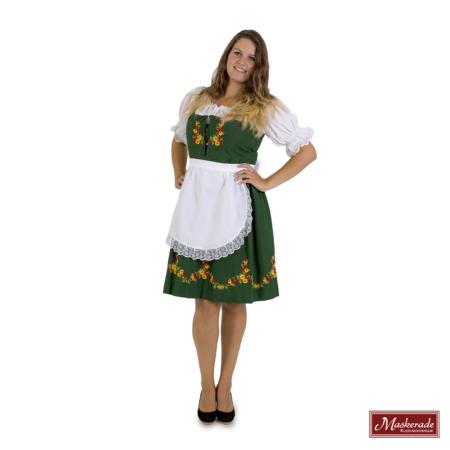 Tiroler jurk groen