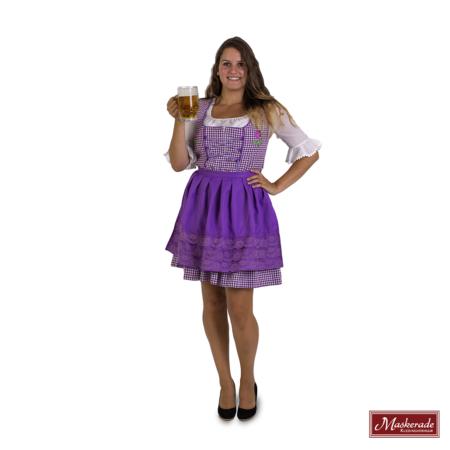 Tiroler jurk paars