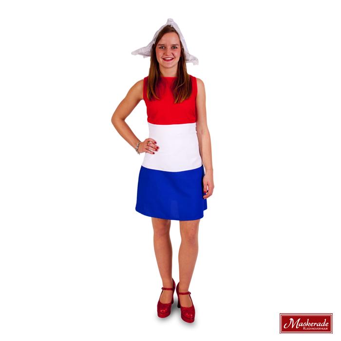 d234569c494975 Hollands jurkje in rood wit blauw huren bij Maskerade Kledingverhuur