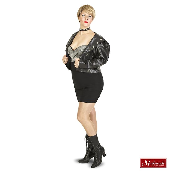 Super Madonna jurk met jasje huren bij Maskerade Kledingverhuur WU-31