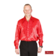 Rouchesblouse in rood