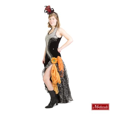 Zwarte burlesque jurk