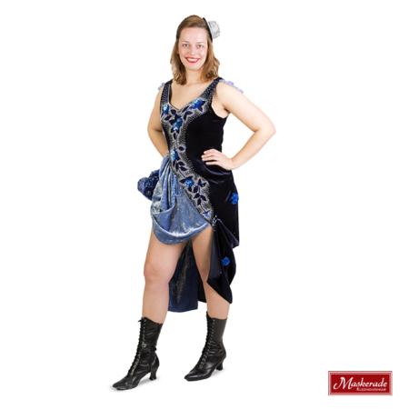 Donkerblauwe burlesque jurk
