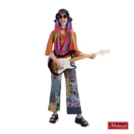 Oranje hippie shirt en broek