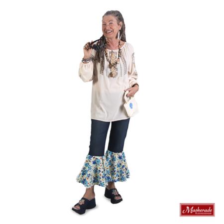 Creme hippie blouse met spijkerbroek