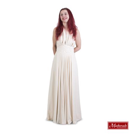 Creme hippie jurk met halter