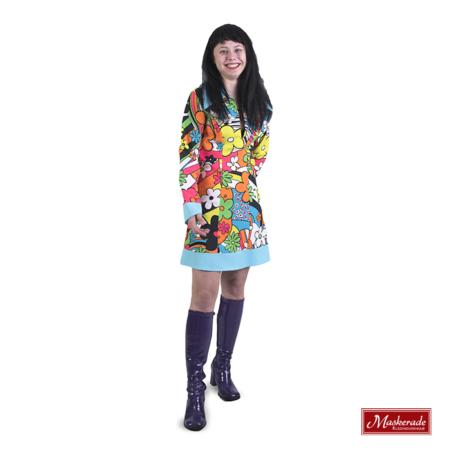 Korte hippie jurk met bloemenprint