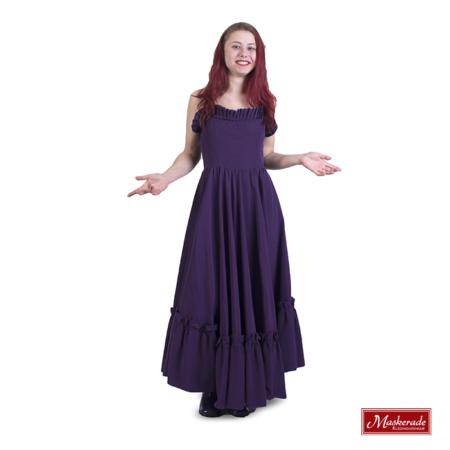 Strapless paarse hippie jurk