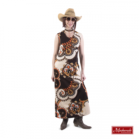 oranje hippie jurk